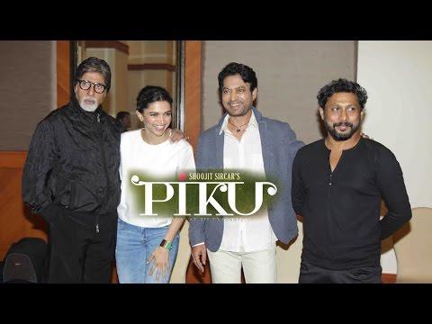 Interview With Amitabh Bachchan, Deepika Padukone & Irrfan Khan For Film PIKU
