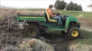 4. John Deere Gator HPX mudding and getting STUCK!