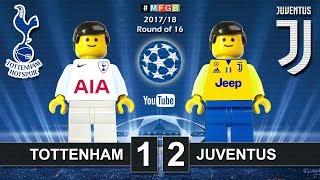 Tottenham vs Juventus 1-2 • Champions League 2018 (07/03/2018) Spurs Juve Highlights Lego Football