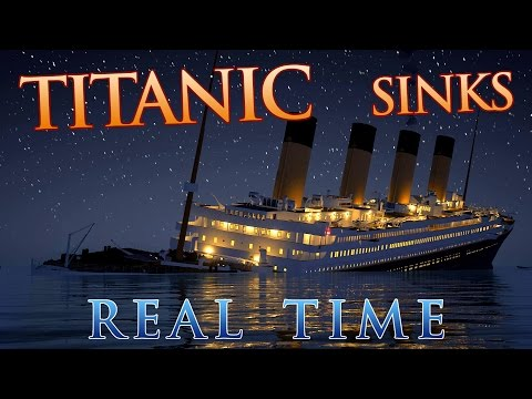 Somebody put together a Titanic sinking in REAL TIME video.  Creepy and still fascinating.