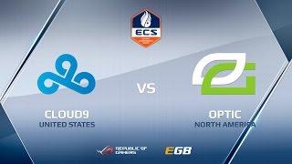 OpTic vs Cloud9, map 1 dust2, ECS Season 2 Finals