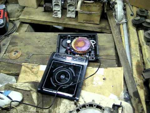 induction cooker heats metal