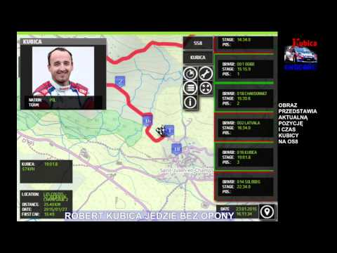 Robert Kubica - wywiad po OS8 / interview after SS8 - Rallye Monte Carlo 2015 [HD]