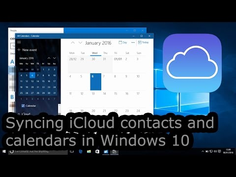 , title : 'Syncing iCloud contacts and calendars in Windows 10'