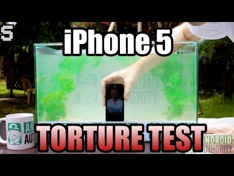 AndroidAuthority - How strong is the iPhone 5? How water-resistant is it? We don't hold back in this one! Check it out! It's iPhone 5 torture test time! -Apple iPhone 5 16GB (W...