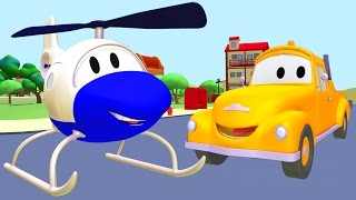 Tom The Tow Truck And The Helicopter In Car City Trucks Cartoon For Children 🚚🚁