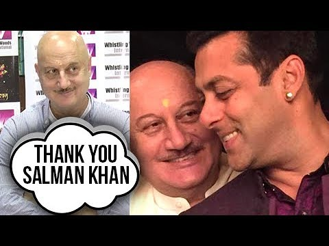 Anupam Kher REACTION On Salman Khan Saving His Lif