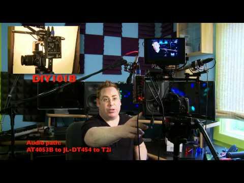 DSLR Audio – JuicedLink Preamp & Barcket DEMO – Chad Johnson