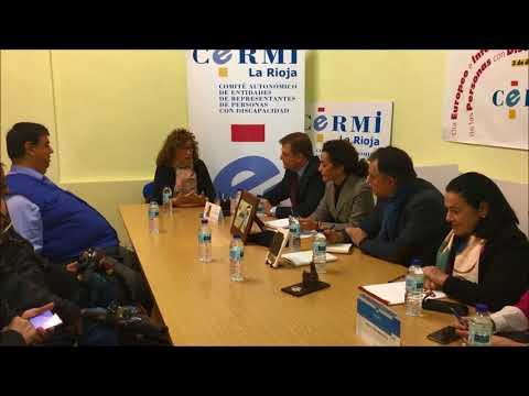 Cotelo, Pérez Pastor y Bretón mantienen un encuentro con responsables del CERMI La Rioja