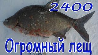 Ловля леща зимой на Десногорском вдхр.