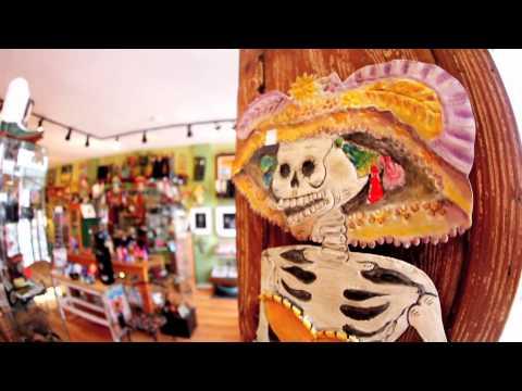 Dia de los Muertos Art at Masks y Mas in Albuquerque