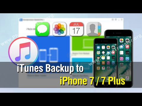 How to Restore Data from iTunes Backup to iPhone 7 / 7 Plus