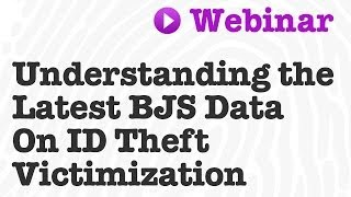 In late 2013, the Bureau of Justice Statistics released new findings on the prevalence and nature of identity theft from the 2012 Identity Theft Supplement to the ...