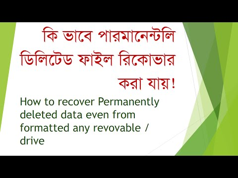How To Recover Permanently Deleted Data Even Formatted From Any Drive | Bangla Tutorial
