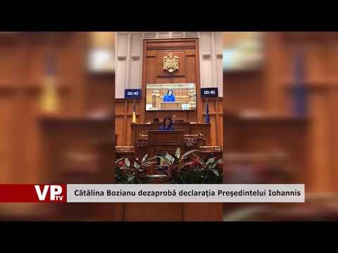 Cătălina Bozianu dezaprobă declaraţia Preşedintelui Iohannis