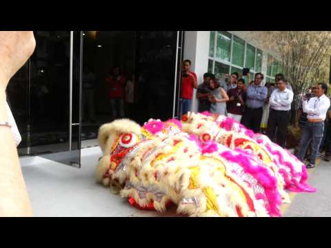 Lion dance at our Spore office
