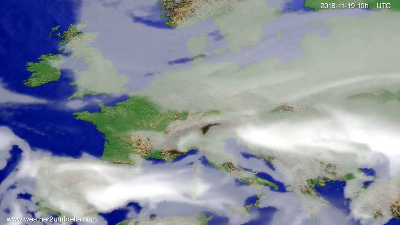 Cloud forecast Europe 2018-11-17
