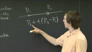 Parametric Line Intersecting A Plane | MIT 18.02SC Multivariable Calculus, Fall 2010
