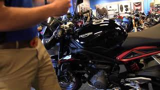 8. 2018 Triumph Street Triple R 765 in Jet Black Delivery @ Frontline Eurosports with Nate Jennings