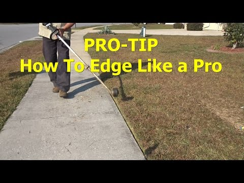HOW TO EDGE with a string trimmer - weedeater - weedwacker  Lawn Edging Tip (видео)