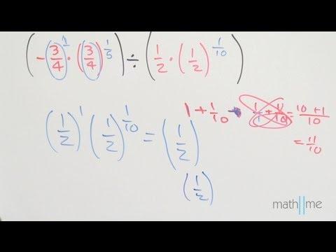 Vereinfachung [-3 / 4 * (3/4) ^ 1/5] / [1/2 * (1/2) ^ 1/10]