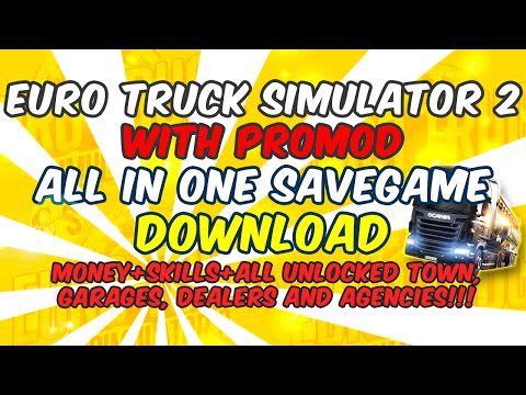 All in One Savegame + ProMod (Full unlocked)