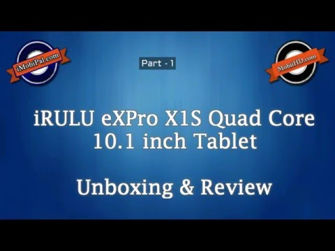 iRULU eXpro X1s 10.1 inch Quad Core Android 5.1 Lollipop Tablet Review - Part 1