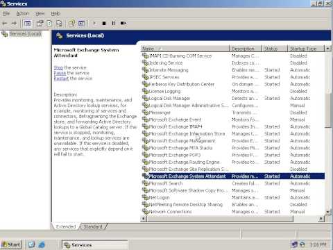 Exchange Server 2003 installation on windows server 2003  (Restart these Services) part 5
