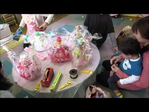 ともべ幼稚園 しあわせ講座「おむつケーキ作り」