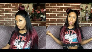 Hello beautiful people todays wig is from Samsbeauty.com Brand: Outre Name: X Vixen Yaki Color: DR425 Video Link to first wig ...