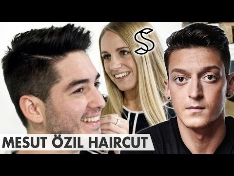 Mesut Ozil Hairstyle 2016 Crew Cut Side Parting Arsenal