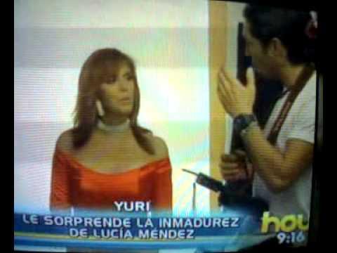 YURI vs LUCIA MENDEZ - programa HOY - escandalo