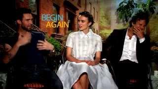 Adam Levine, Keira Knightley & Mark Ruffalo Unfiltered BEGIN AGAIN Interviews