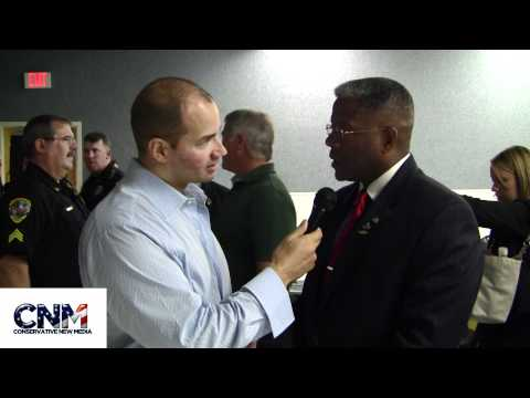Conservative New Media - Congressman Allen West (R-FL) was interviewed by John D. Villarreal of Conservative New Media after his town hall in Palm Beach Gardens in Florida. Congressm...