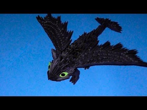 3D origami dragon Night fury tutorial (instruction)
