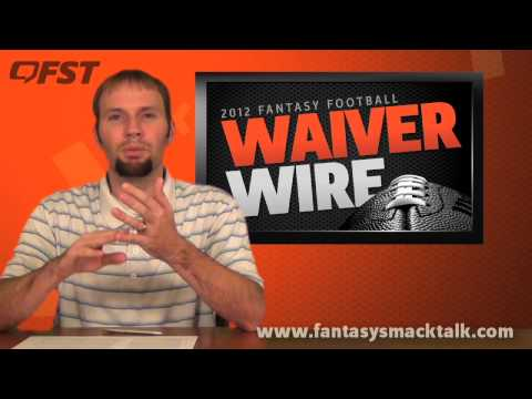 2012 Fantasy Football – Week 13 Waiver Wire Pick Ups