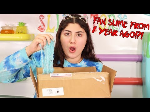 1 YEAR OLD SLIME FROM FANS! NEVER OPENED!?!?! Slimeatory #558