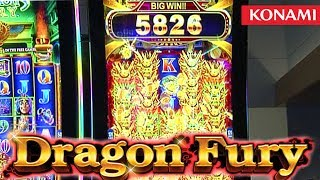 "http://www.thisweekingambling.com/dragon-fury-slot-machine-konami/ - We visit Konami Gaming to take a look at their Dragon Fury Slot Machine!  The Dragon Fury slot is packaged on Konami's new Concerto Crescent cabinet with a 43-inch, curved monitor.  Dragon Fury is among the original new debut themes displayed on both the Concerto Crescent and the tall Concerto Stack. This game features a 7-8-8-8-7 reel format and a unique bonus that dramatically increases the number of high-value dragon symbols across the reel sets during the free games according to the number of trigger free game symbols. Dragon Fury can also include a mystery-trigger, 2-level standalone progressive.Dragon Fury encompass players full range of vision on wither an 80 or 120 line version. Global Gaming Business magazine states that the Dragon Fury slot machine can add a ""...maximum of 241 dragon symbols... to the possible free-spin results for triggering the feature with six orb symbols. Dragon Fury can also be configured to include a mystery-trigger, two-level standalone progressive jackpot.""Read more about Dragon Fury here: https://ggbmagazine.com/article/dragon-fury/You can visit Konami Gaming here: https://www.gaming.konami.com/Games/GamesCatalog.aspx?k1=11048&k2=1&K3=0&K4=0 See more Konami slot titles here: https://www.gaming.konami.com/Games/GamesCatalog.aspx"