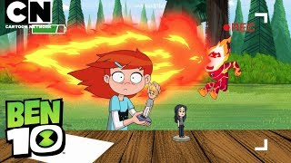 Ben put together a prank video during his summer camping vacation!CN GAMES: http://bit.ly/CNGamesSUBSCRIBE: http://bit.ly/109Y6wq About Ben 10:Ben Tennyson wields the power of the Omnitrix to turn into an entire arsenal of amazing alien superheroes...if only he could ever figure out how to make it work properly! Whether he's pounding the pavement as Four-Arms, blasting the baddies as Shocksquatch, or sizing up the competition as Humungousaur, Ben is always here to save the day with his new by-the-book partner, Rook! Connect with Ben 10 Online:Visit Ben 10 Website: http://bit.ly/PSQfNdFollow Ben 10 on Facebook: http://on.fb.me/YAqeGgFollow Ben 10 on Twitter: http://bit.ly/Z730wlAbout Cartoon Network:Welcome to Cartoon Network's YouTube Channel, the destination for all of your favorite cartoons and videos. Watch clips from shows like Adventure Time, Regular Show, The Amazing World of Gumball, Ben 10, ININJAGO, Legends of Chima and more! Connect with Cartoon Network Online:Visit Cartoon Network WEBSITE: http://bit.ly/90omi9 Like Cartoon Network on FACEBOOK: http://on.fb.me/SULxhQFollow Cartoon Network on TWITTER: http://bit.ly/XqeBXf Ben 10  Prank Time!  Cartoon Networkhttps://youtu.be/rtoU6gUpHpY