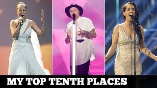 My Top 18: 10th places Eurovision 2000 - 2017 Respect my opinion and feel free to comment. Subscribe for more videos...