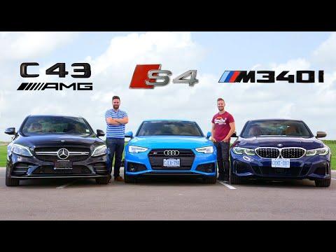 2020 BMW M340i vs Audi S4 vs Mercedes C43 AMG // Performance Sedan Face-Off