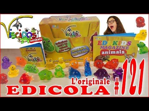 EDICOLA #121: VISCIDOSI ANIMALS Apriamo PACCO da 12 bustine (by Giulia Guerra) (видео)