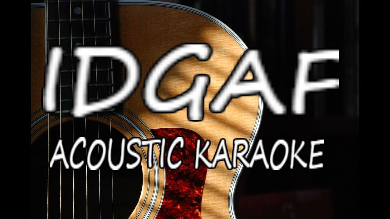 Dua Lipa – IDGAF (Acoustic Guitar Karaoke)