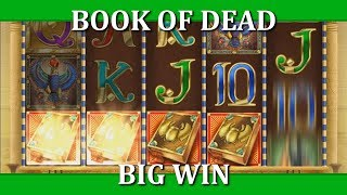BIG WIN ON BOOK OF DEAD - 10€ BET!!