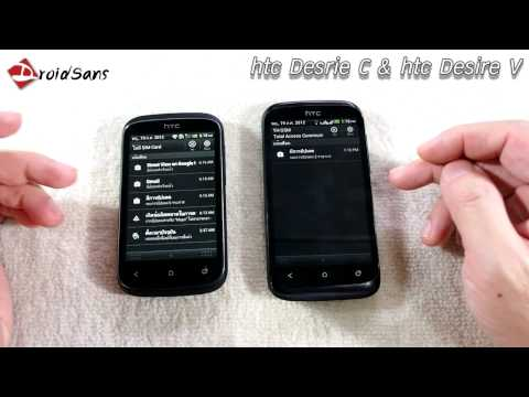 DroidSans Review : HTC Desire C and HTC Desire V dual-sim (Eng Sub)