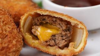 BBQ Cheeseburger Onion Rings by Tasty