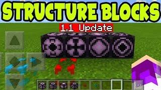 "Minecraft Pocket Edition "" STRUCTURE BLOCKS "" PE // MCPE  Structure Blocks (MCPE 1.1 Update)"