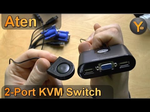 Review: Aten CS22U / 2-Port KVM Switch / VGA + USB Umschalter für 2 Computer