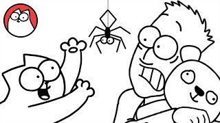 Download Youtube: Spider Cat - Simon's Cat (Halloween Special) | BLACK & WHITE