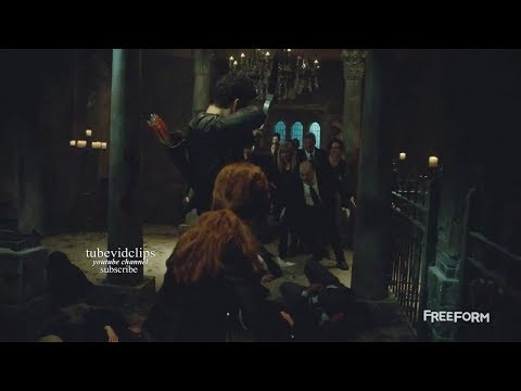 Shadowhunters 2x19 Jace Alec Clary Izzy Fight with the Forsaken  Season 2 Episode 19